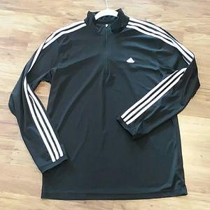 Adidas men's quarter zip lightweight jacket large